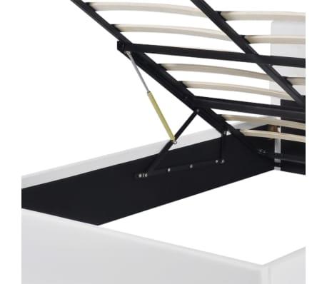 vidaXL Lit de rangement avec matelas 140 x 200 cm Cuir synthétique[6/12]