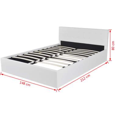 vidaXL Lit de rangement avec matelas 140 x 200 cm Cuir synthétique[12/12]