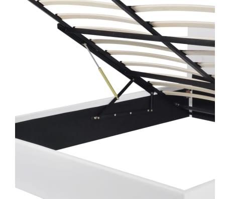 vidaXL Lit de rangement avec matelas 180 x 200 cm Cuir synthétique[6/12]