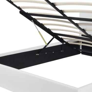 vidaXL Hydraulisches Stauraumbett mit Matratze 180 x 200 cm Kunstleder[6/12]