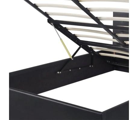 vidaXL Hydraulisches Stauraumbett mit Matratze 140 x 200 cm Kunstleder[6/12]