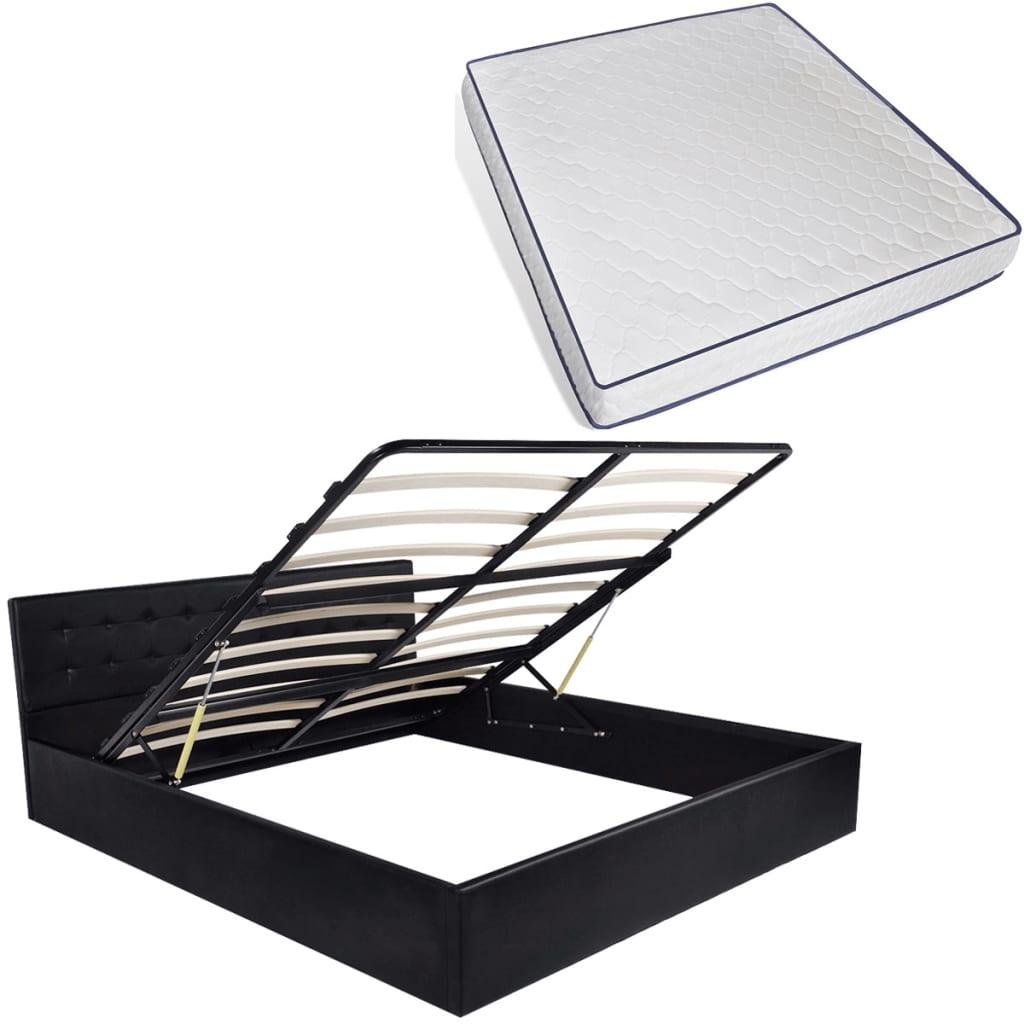 vidaXL Κρεβάτι με Αποθηκευτικό Χώρο 180×200 εκ. Συνθ. Δέρμα με Στρώμα