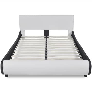 vidaXL Lit et matelas 140 x 200 cm Cuir synthétique Blanc[3/12]
