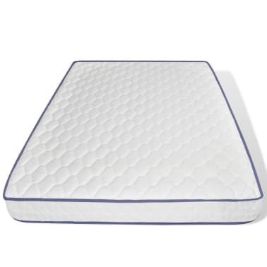 vidaXL Lit et matelas 140 x 200 cm Cuir synthétique Blanc[7/12]