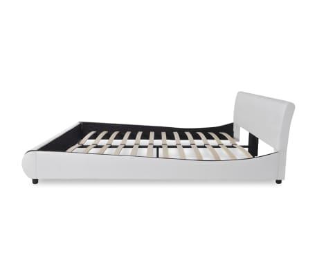 vidaXL Bett mit Matratze Kunstleder 180 x 200 cm Weiß[5/10]
