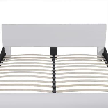 vidaXL Lit avec matelas 180 x 200 cm Cuir synthétique Blanc[4/10]