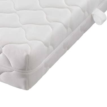 vidaXL Bett mit Matratze Kunstleder 180 x 200 cm Weiß[9/10]