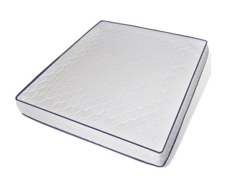 vidaXL Lova su čiužiniu Memory Foam, dirbtinė oda, 180x200 cm, balta[6/12]
