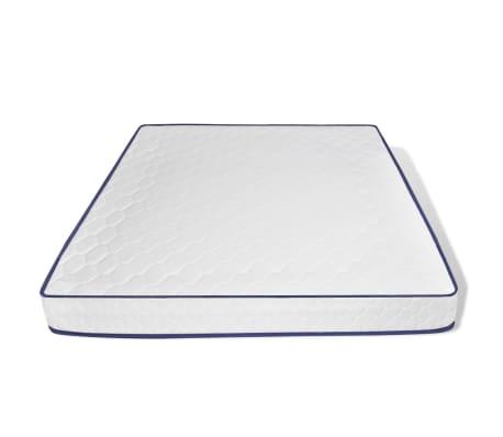 vidaXL Bett mit Memory-Schaum-Matratze Kunstleder 180 x 200 cm Weiß[7/12]