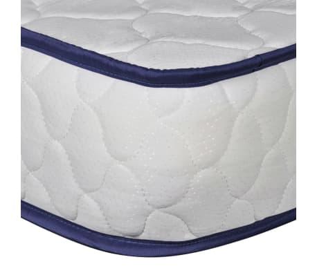 vidaXL Lova su čiužiniu Memory Foam, dirbtinė oda, 180x200 cm, balta[9/12]