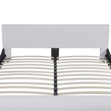 vidaXL Lova su čiužiniu Memory Foam, dirbtinė oda, 180x200 cm, balta[4/12]