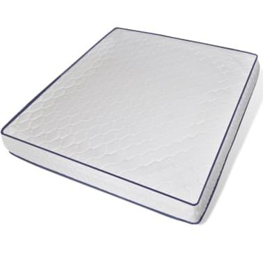 vidaXL Lit et matelas à mémoire 180 x 200 cm Cuir synthétique Blanc[6/12]