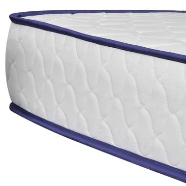 vidaXL Lit et matelas à mémoire 180 x 200 cm Cuir synthétique Blanc[8/12]