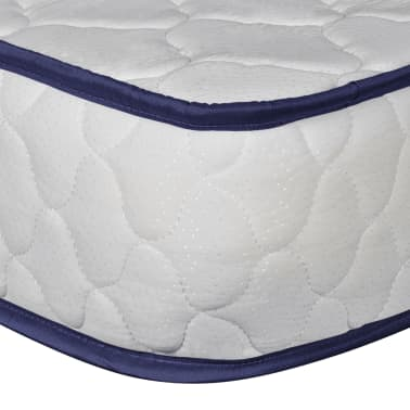 vidaXL Lit et matelas à mémoire 180 x 200 cm Cuir synthétique Blanc[9/12]