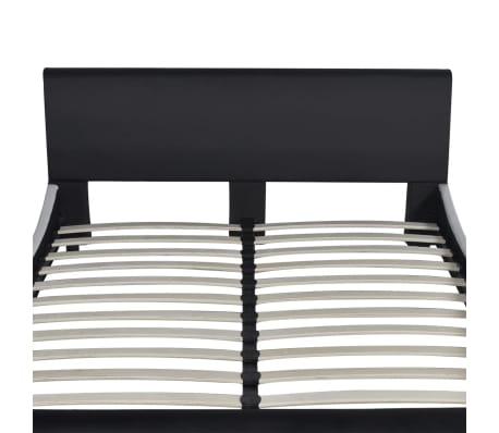 vidaXL Cama con colchón viscoelástico cuero artificial 140x200 negra[4/12]