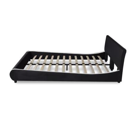 vidaXL Cama con colchón viscoelástico cuero artificial 140x200 negra[5/12]