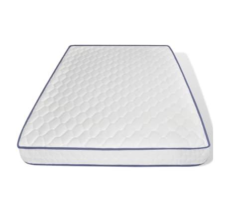 vidaXL Cama con colchón viscoelástico cuero artificial 140x200 negra[7/12]