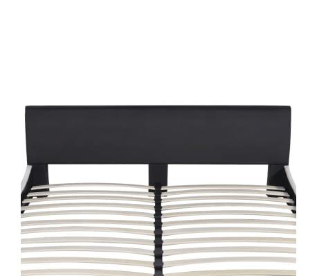 vidaXL Lova su čiužiniu Memory, dirbtinė oda, 180x200 cm, juoda[4/12]