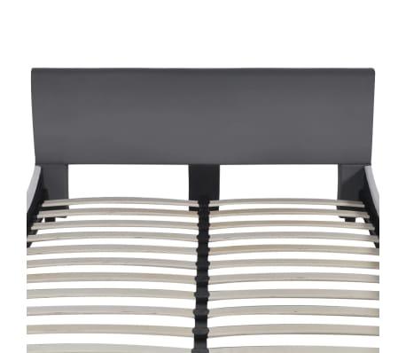 vidaXL Bett mit Matratze Kunstleder 140 x 200 cm Grau[4/10]