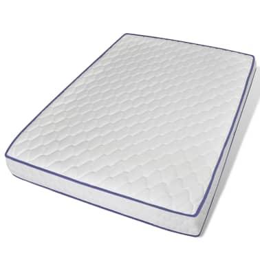 vidaXL Bett mit Memory-Schaum-Matratze Kunstleder 140 x 200 cm Grau[6/12]