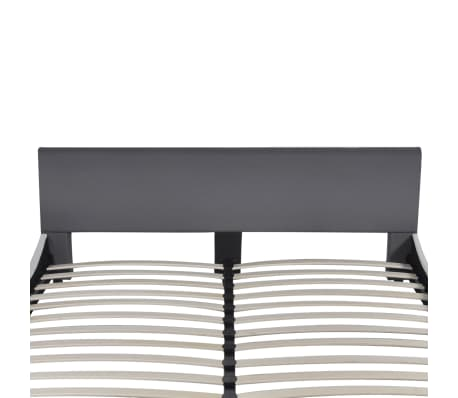 vidaXL Bett mit Memory-Schaum-Matratze Kunstleder 180 x 200 cm Grau[4/12]