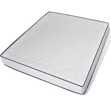 vidaXL Bett mit Memory-Schaum-Matratze Kunstleder 180 x 200 cm Grau[6/12]