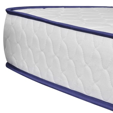vidaXL Bett mit Memory-Schaum-Matratze Kunstleder 180 x 200 cm Grau[8/12]