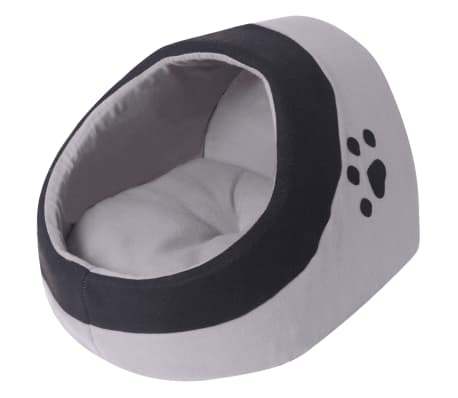 vidaXL Cat Cubby Grey and Black M