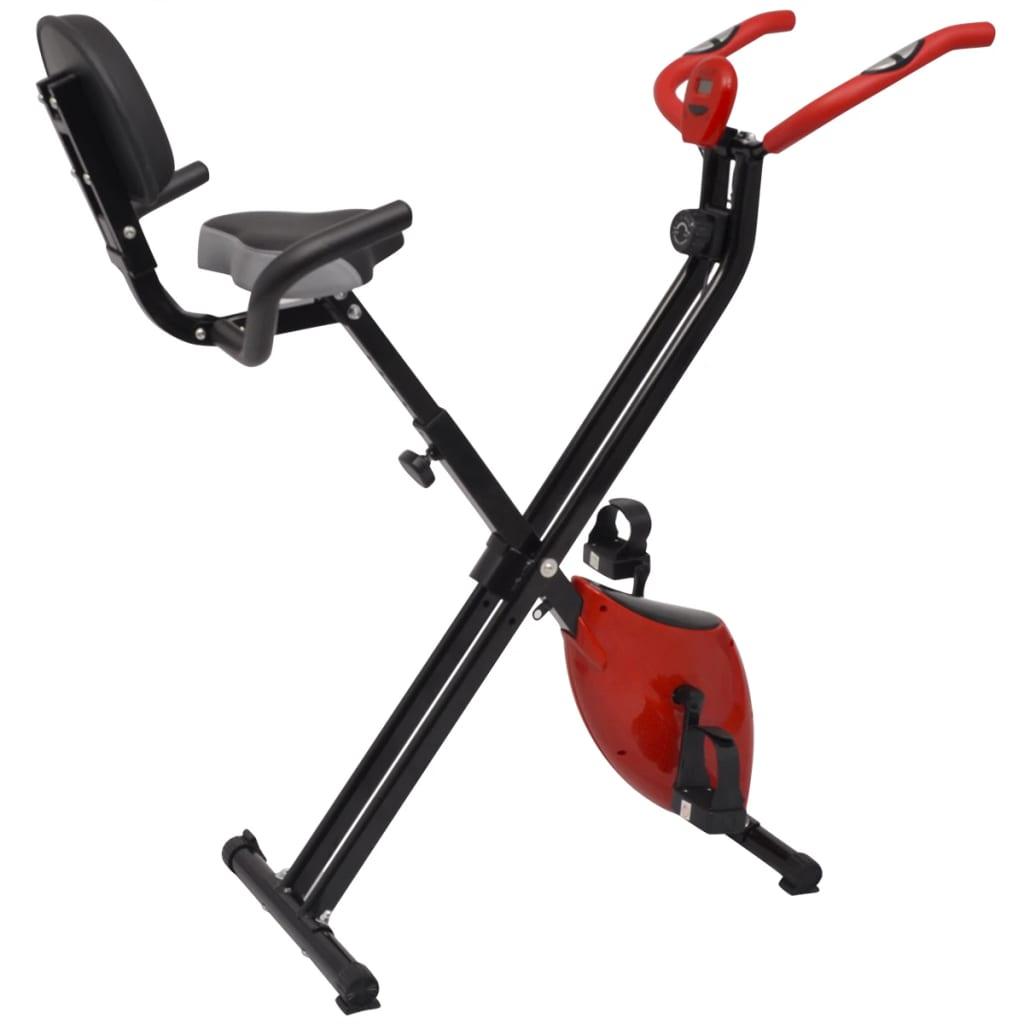 vidaXL Bicicletă fitness magnetică pliabilă cu spătar, volantă 2,5 kg vidaxl.ro