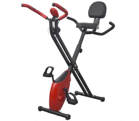 vidaXL Heimtrainer klappbar magnetisch + Rückenlehne 2,5 kg Schwungrad[3/11]