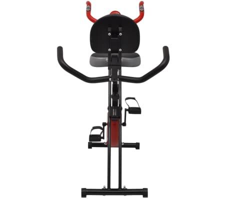 vidaXL Heimtrainer klappbar magnetisch + Rückenlehne 2,5 kg Schwungrad[4/11]