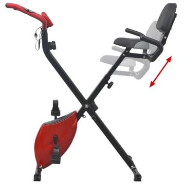 vidaXL Heimtrainer klappbar magnetisch + Rückenlehne 2,5 kg Schwungrad[6/11]