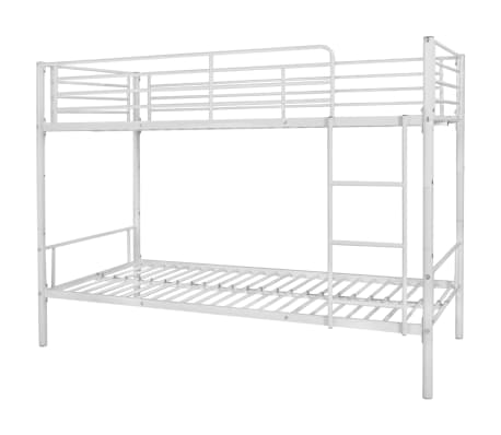 vidaxl kinder etagenbett bettgestell 200x90 cm metall wei g nstig kaufen. Black Bedroom Furniture Sets. Home Design Ideas