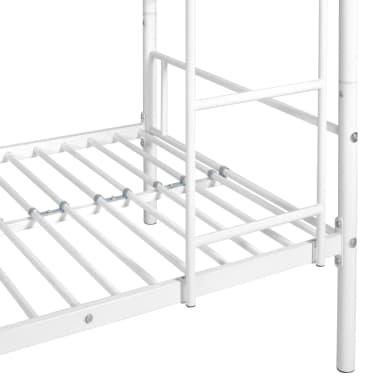Vidaxl Kinder Etagenbettgestell Weiss Metall 90x200 Cm Im Vidaxl