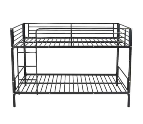 vidaxl kinder etagenbett bettgestell 200x90 cm metall schwarz g nstig kaufen. Black Bedroom Furniture Sets. Home Design Ideas