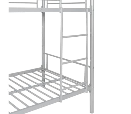 vidaxl kinder etagenbett bettgestell 200x90 cm metall grau g nstig kaufen. Black Bedroom Furniture Sets. Home Design Ideas
