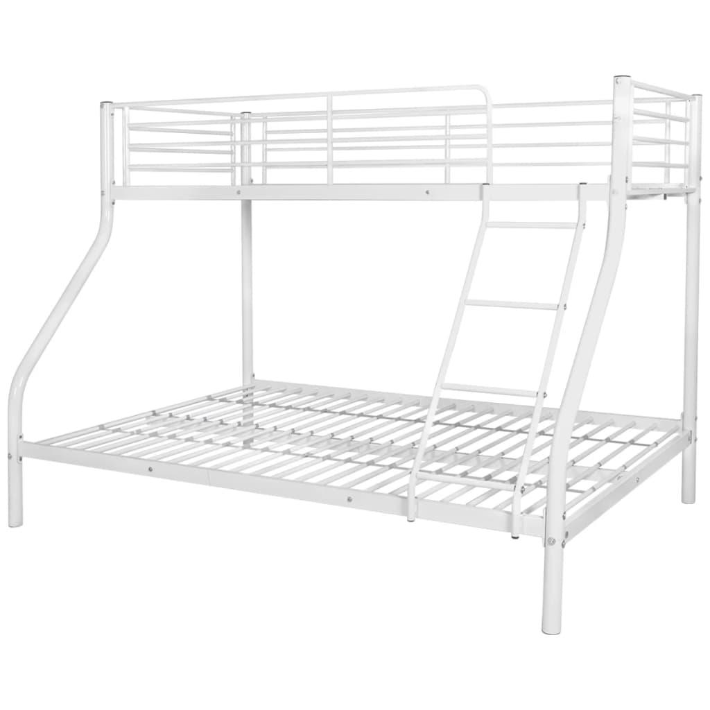 vidaXL Πλαίσιο Κουκέτας Παιδικής Λευκό 140×200/90×200 εκ. Μεταλλικό
