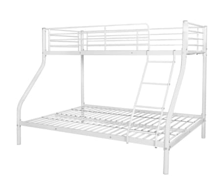 vidaXL Vaik. dviaukštės lovos rėmas, balt. sp., 140x200cm/90x200cm[2/6]