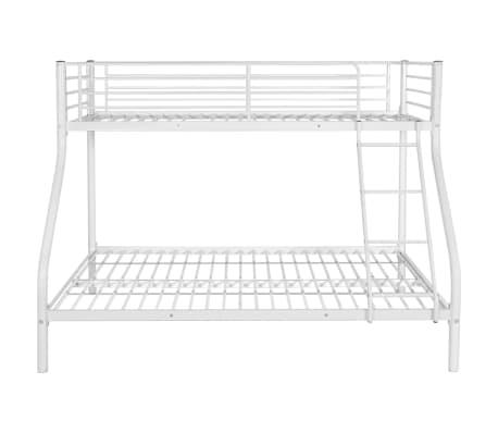 vidaXL Vaik. dviaukštės lovos rėmas, balt. sp., 140x200cm/90x200cm[3/6]