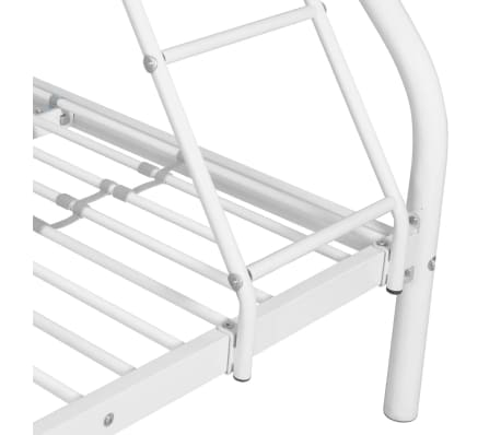 vidaXL Vaik. dviaukštės lovos rėmas, balt. sp., 140x200cm/90x200cm[4/6]