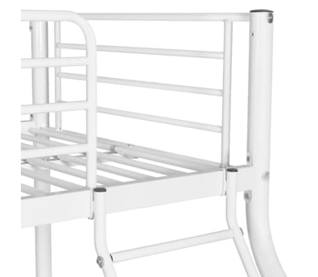 vidaXL Vaik. dviaukštės lovos rėmas, balt. sp., 140x200cm/90x200cm[5/6]