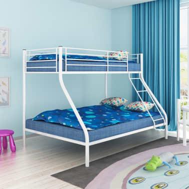 vidaXL Vaik. dviaukštės lovos rėmas, balt. sp., 140x200cm/90x200cm[1/6]