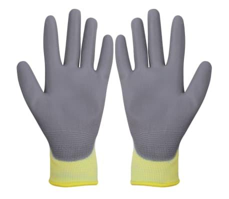 vidaXL Werkhandschoenen PU 24 paar wit en grijs maat 10/XL[2/4]