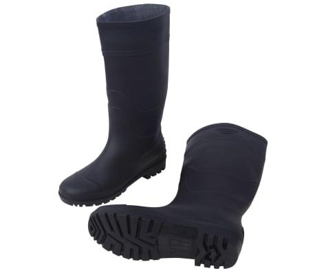 vidaXL Bottes en caoutchouc taille 40 noir UrSdtkqafa