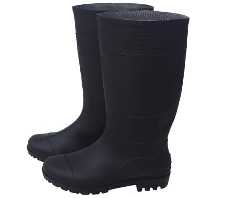 vidaXL Guminiai batai, juodi, dydis 41[4/6]