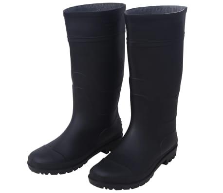 vidaXL Guminiai batai, juodi, dydis 43