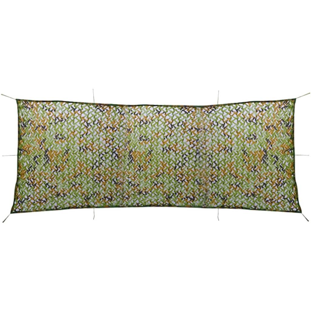 vidaXL Plasă de camuflaj cu sac de depozitare, 1,5 x 4 m poza vidaxl.ro