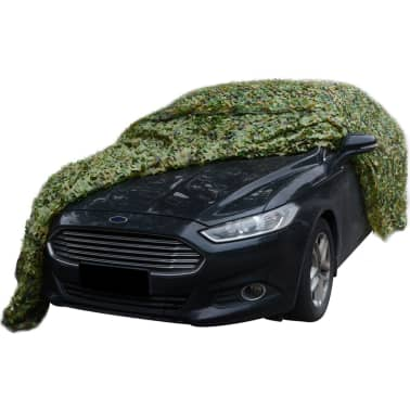 vidaXL Camouflage Net with Storage Bag 4.9