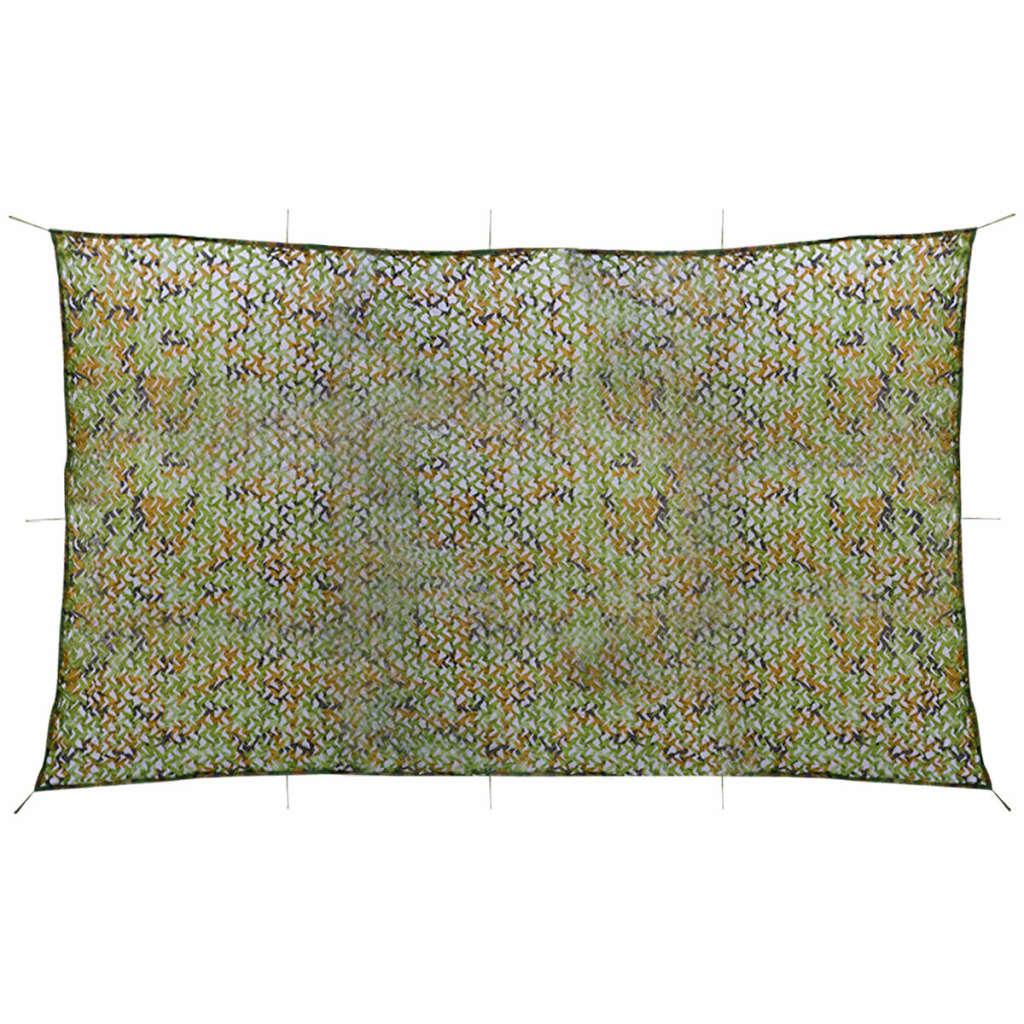 vidaXL Plasă de camuflaj cu geantă de depozitare 3x5 m poza vidaxl.ro
