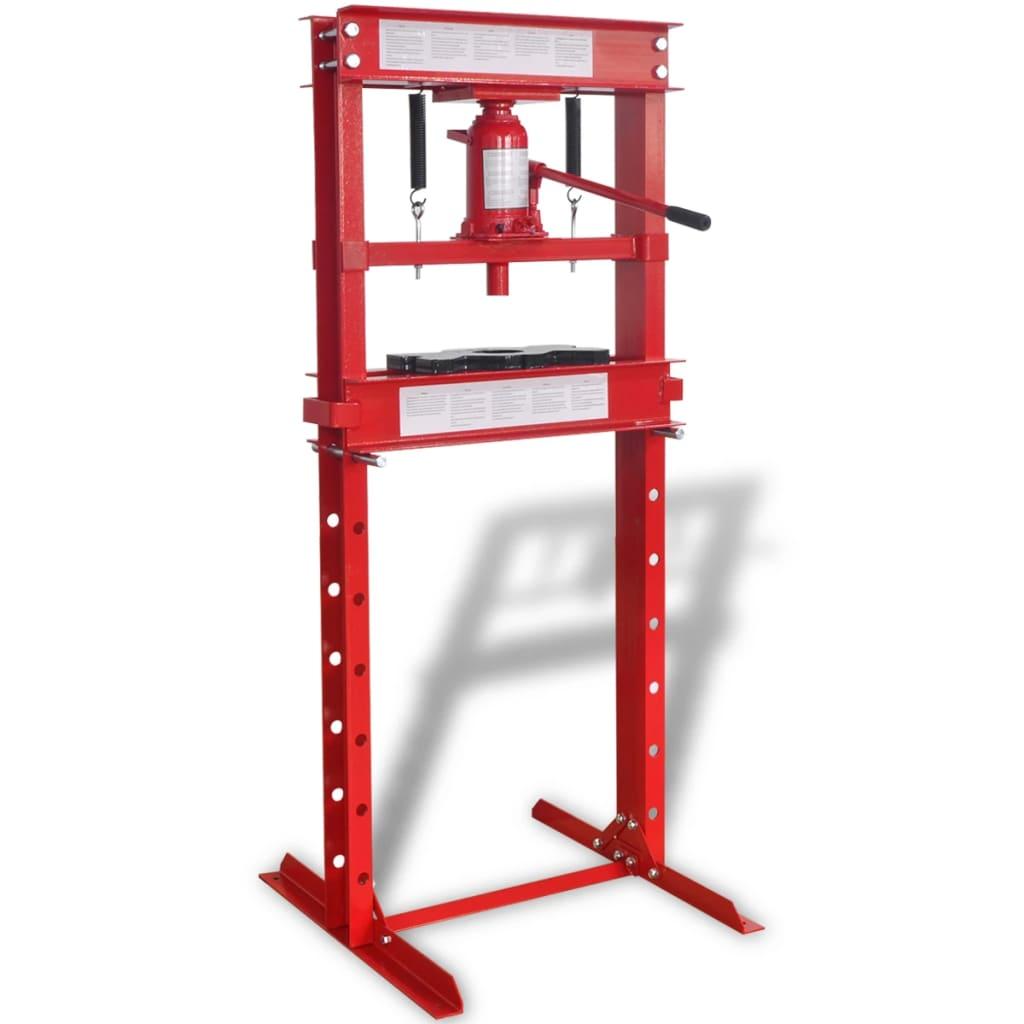 Afbeelding van vidaXL Werkplaatspers 20 ton rood